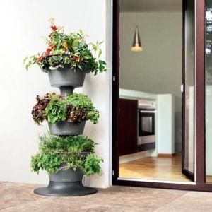 Ensemble de 3 jardinières grises, léger et solide, facile d'installation, réservoir d'eau intégré Plantes et Jardins – Jardinerie en ligne