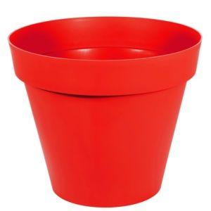 Pot XL EDA Toscane en résine Ø100 H80 cm rouge tomate