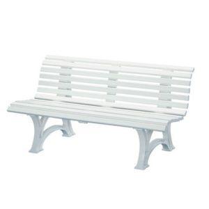 Banc résine Neptune 150 cm blanc