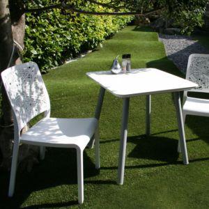Chaise de jardin Charlotte City en polypropylène blanc