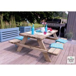 Table de pique-nique Matisse bois traité L180 x l74 cm Forest Style