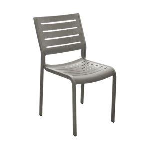Chaise Belhara aluminium taupe