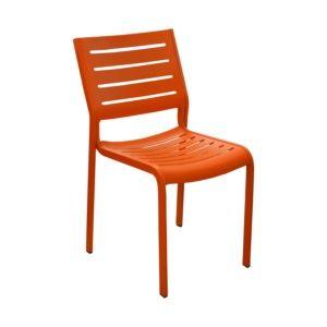 Chaise de jardin empilable Belhara aluminium orange
