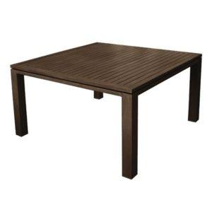 Table de jardin Fiero aluminium l160 L160 cm brun