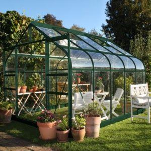 Serre de jardin Supreme verre trempé 8.1 m² + embase Halls Eden Greenhouses