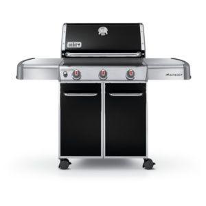 Barbecue gaz Weber Genesis E310 noir Barbecue à gaz, 3 brûleurs , allumage piezzoélectronique, grille de cuisson, roulettes orientables