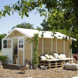 Abri de jardin résine Grosfillex 15.05 m² Ep. 26 mm Sherwood – Plantes et jardins – Jardinerie en ligne