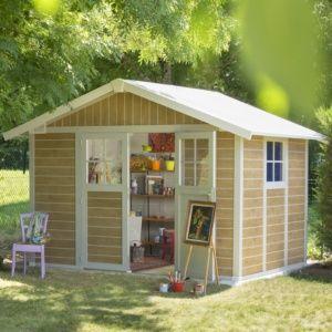 Abri de jardin résine Grosfillex 11.02 m² Ep. 26 mm Sherwood – Plantes et Jardins – Jardinerie en ligne