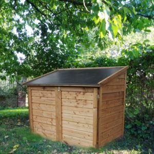 Coffre de jardin bois traité Trocadéro 1200L – Chalet et Jardin
