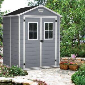 Abri de jardin résine propylène résistant aux UV et à l'humidité, idéal petits jardins, en kit à monter soi-même Plantes et Jardin – Jardinerie en ligne