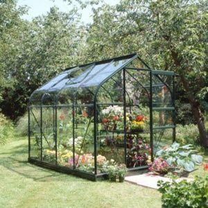 Serre de jardin Supreme verre trempé 5 m² + embase Eden