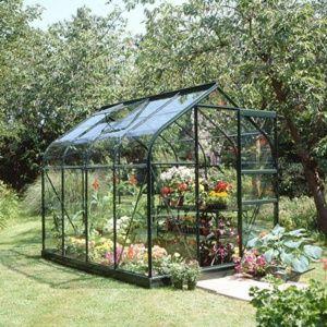 Serre de jardin Supreme verre trempé 5 m² vert – Eden