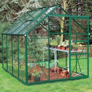 Serre de jardin Princess verre trempé 4m² + embase – Halls Eden Greenhouses