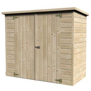 Remise Bike Box en bois naturel 12 mm – 1.88 m²