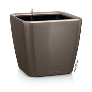 Pot Lechuza Quadro Premium L35 H33 cm taupe