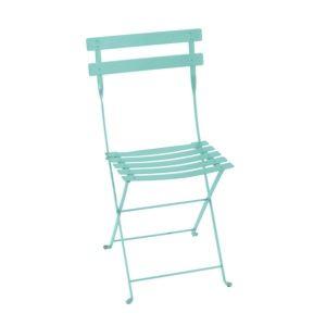 Chaise pliante Fermob Bistro acier bleu lagune