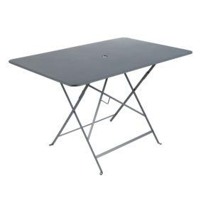 Table de jardin pliante Fermob Bistro l117 L77 cm acier gris orage
