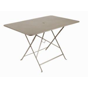 Table de jardin pliante Fermob Bistro l117 L77 cm acier muscade