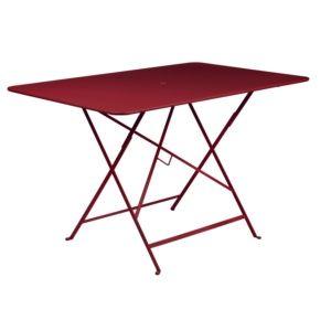Table de jardin pliante Fermob Bistro acier l117 L77 cm piment