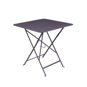 Table pliante Fermob Bistro l71 L71 cm  acier prune