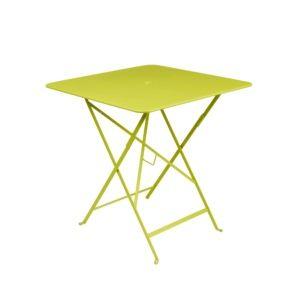 Table pliante Fermob Bistro l71 L71 cm  acier verveine