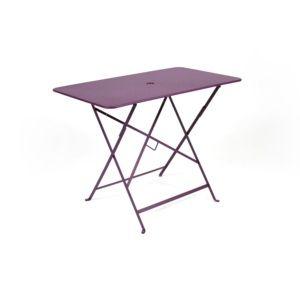 Table pliante Fermob Bistro l97 L57 cm acier aubergine