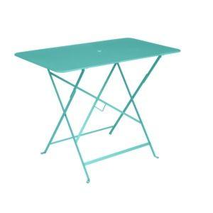 Table pliante Fermob Bistro l97 L57 cm acier bleu lagune