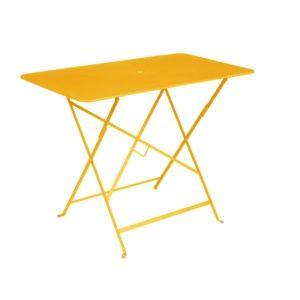Table pliante Fermob Bistro l97 L57 cm acier miel
