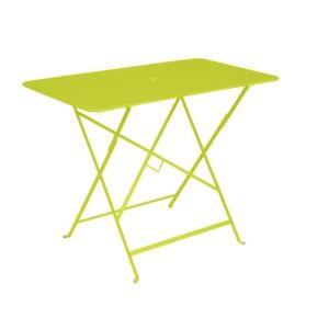 Table pliante Fermob Bistro l97 L57 cm acier verveine