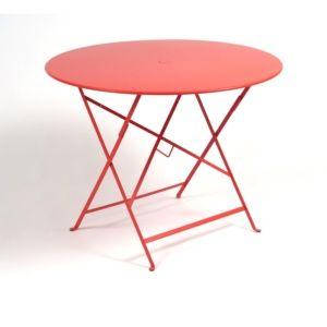 Table pliante Fermob Bistro acier Ø96 cm coquelicot