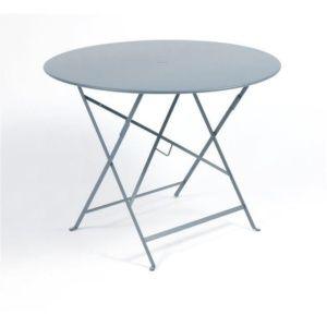 Table pliante Fermob Bistro Ø96 cm acier gris orage