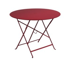 Table pliante Fermob Bistro Ø96 cm acier piment