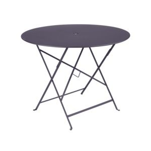 Table pliante Fermob Bistro Ø96 cm acier prune