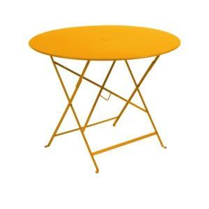 Table pliante Fermob Bistro Ø96 cm acier miel
