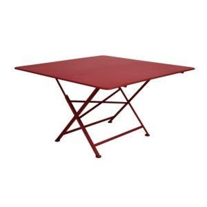 Table pliante Fermob Cargo acier l128 L128 cm piment