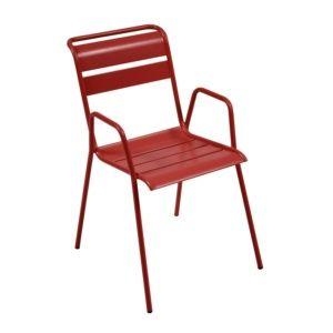 Chaise empilable Fermob Monceau acier piment
