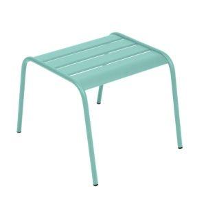 Table basse / repose-pieds Fermob Monceau acier bleu lagune – empilable