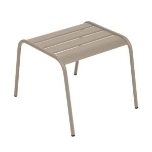 Table basse / repose-pieds Fermob Monceau acier muscade – empilable