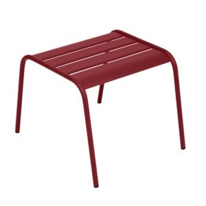 Table basse / repose-pieds Fermob Monceau acier piment – empilable