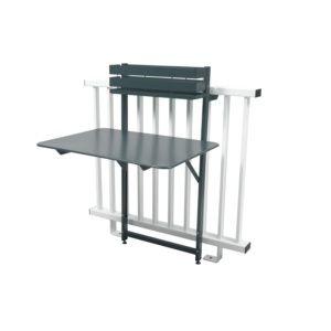 Table de balcon pliante Fermob Bistro acier l77 cm gris orage