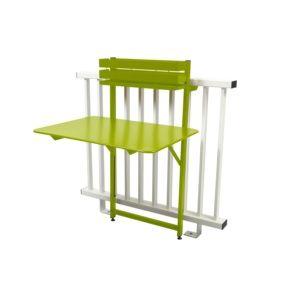 Table de balcon pliante Fermob Bistro acier l77 cm verveine