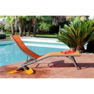 Bain de soleil Fuji Relax aluminium/textilène orange