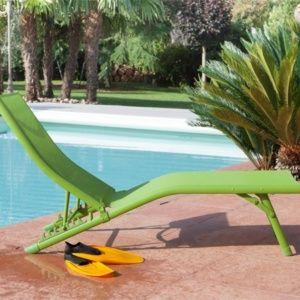 Bain de soleil Fuji Relax aluminium/textilène vert