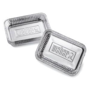 Lot de 10 barquettes aluminium Weber