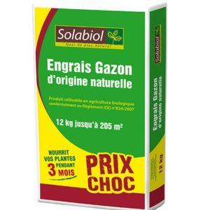 Engrais Gazon solabiol 12kg pour 205m²