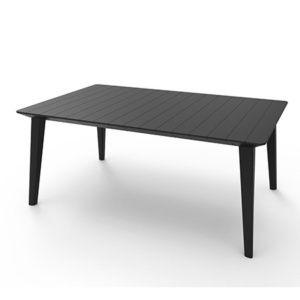 Table de jardin Lima résine L240 H74 cm graphite