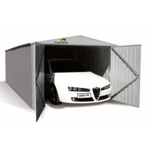 Garage en métal Madeira Mackay 17.88 m² hors tout. PLANTES ET JARDIN – Jardinerie en ligne