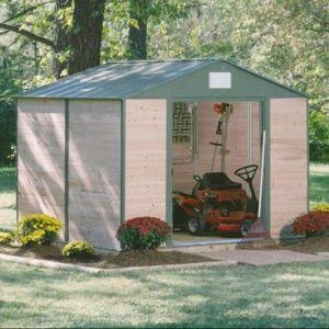 Abri de jardin cèdre et acier 11,40 m² Ep. 12 mm
