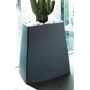 Bac à fleurs Reverso en résine plastique résistante L59 H65 cm ardoise, intérieur et extérieur. PLANTES ET JARDIN – Jardinerie en ligne