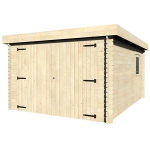 Garage bois Galan 16.79 m² Ep. 28 mm toit plat